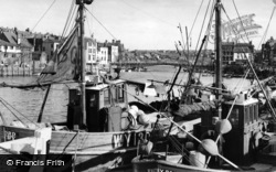 Whitby, The Harbour c.1960