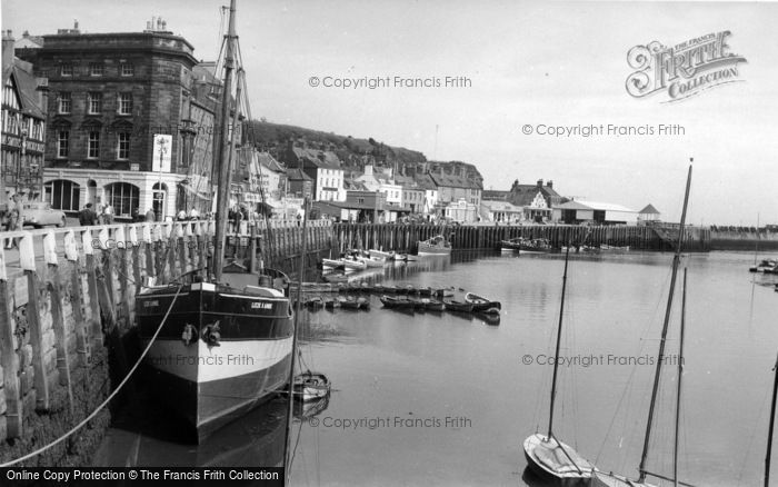 Photo of Whitby, The Harbour c.1960