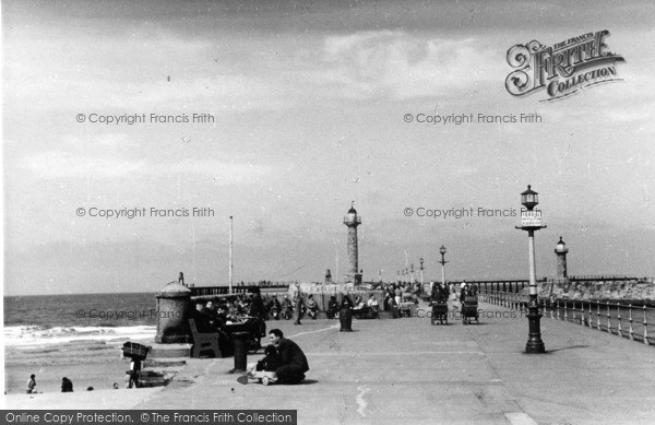 Photo of Whitby, The Harbour Lights c.1950