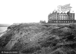 Whitby, The Metropole Hotel And Cliffs 1923