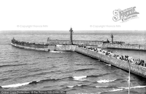 Photo of Whitby, The New Pier Extensions 1913
