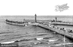 Whitby, The New Pier Extensions 1913