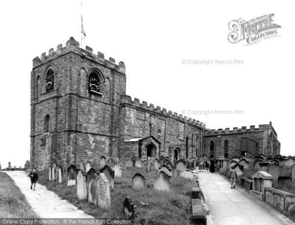 Photo of Whitby, The Parish Church Of St Mary c.1950
