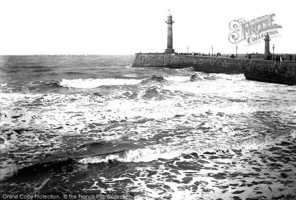 Photo of Whitby, The Pier 1891