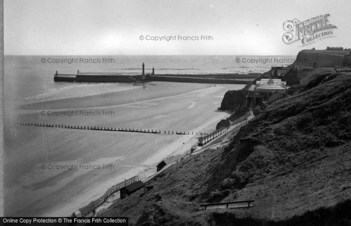 Photo of Whitby, The Pier And Spa c.1955