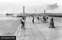 Whitby, The Pier c.1960