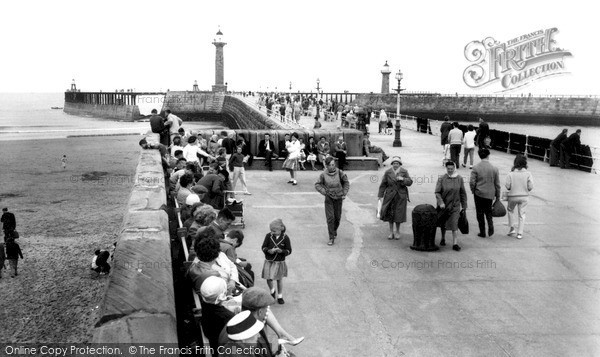 Photo of Whitby, The Pier c.1965