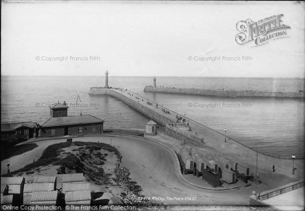 Photo of Whitby, The Piers 1897