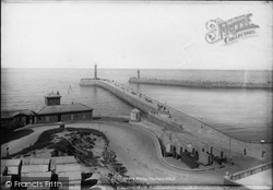 Whitby, The Piers 1897