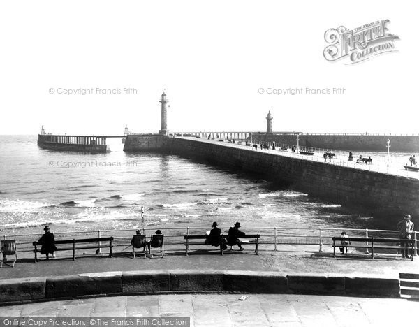 Photo of Whitby, The Piers 1927