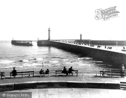 Whitby, The Piers 1927