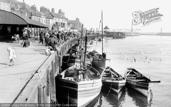 Photo of Whitby, The Quay 1927