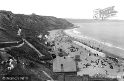 Whitby, The Sands 1913