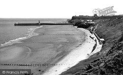 Whitby, The Seafront c.1955
