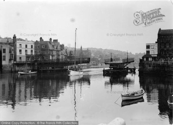 Photo of Whitby, The Swing Bridge c.1950