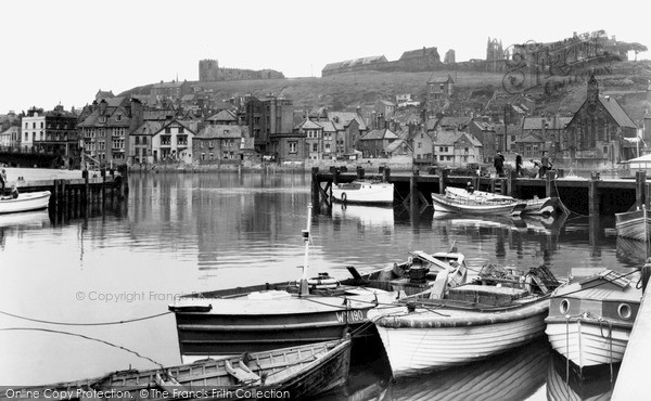Photo of Whitby, the Upper Harbour c1950