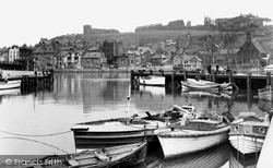 Whitby, The Upper Harbour c.1950