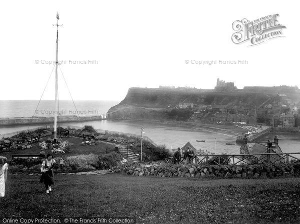 Photo of Whitby, The View From The Cook Statue 1932