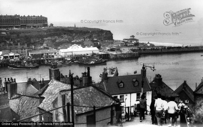 Photo of Whitby, View From The 199 Steps c.1960
