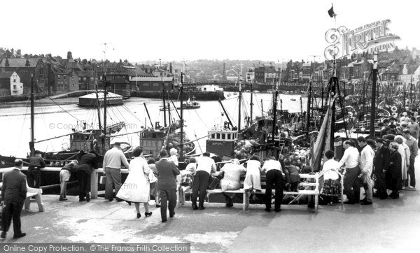 Photo of Whitby, Watching The Fishing Fleet c.1960