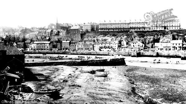 Photo of Whitby, West Cliff 1891