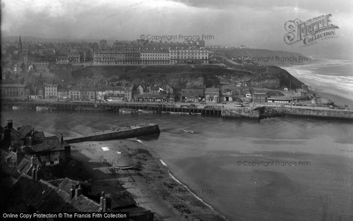 Photo of Whitby, West Cliff 1925