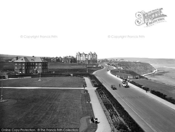 Photo of Whitby, West Cliff And Gardens 1934