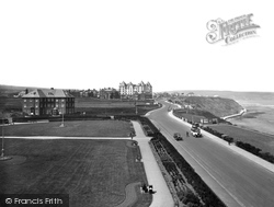 Whitby, West Cliff And Gardens 1934