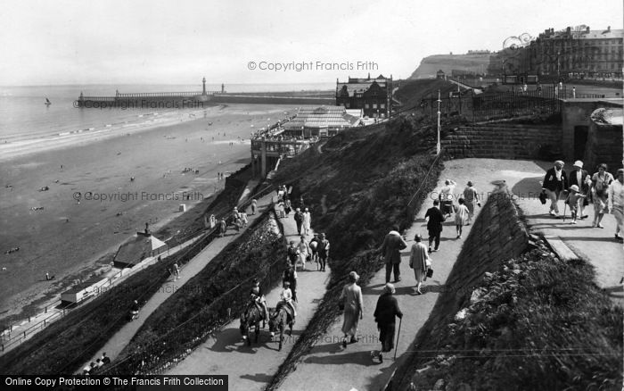 Photo of Whitby, West Cliff And Spa 1927