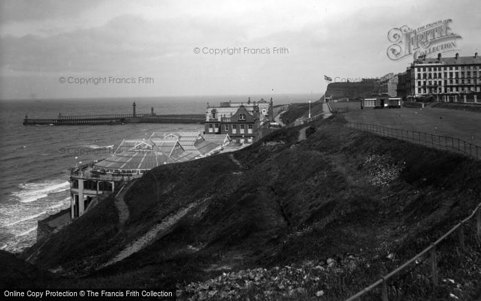 Photo of Whitby, West Cliff And Spa 1934