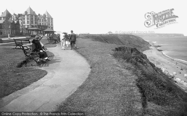 Photo of Whitby, West Cliff And The Metropole Hotel 1923