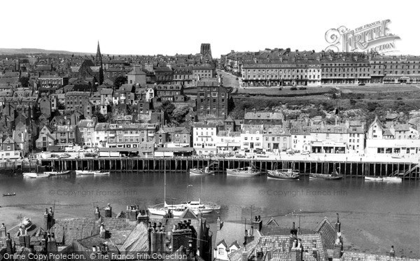 Photo of Whitby, West Cliff c.1960