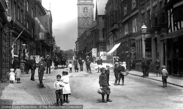 Photo of Whitchurch, A Busy High Street 1901