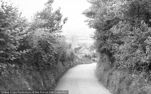 Photo of Whitchurch Canonicorum, Approach To The Church c.1955
