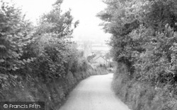 Whitchurch Canonicorum, Approach To The Church c.1955