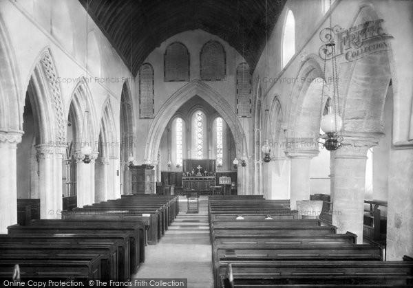 Photo of Whitchurch Canonicorum, Church Of St Candida, Interior 1900