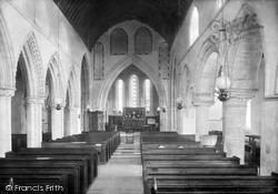 Whitchurch Canonicorum, Church Of St Candida, Interior 1900