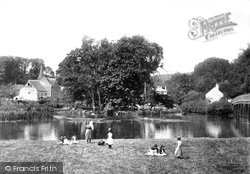 Whitchurch, From Bridge 1890, Whitchurch-on-Thames