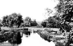 Whitchurch, From The Bridge 1890, Whitchurch-on-Thames