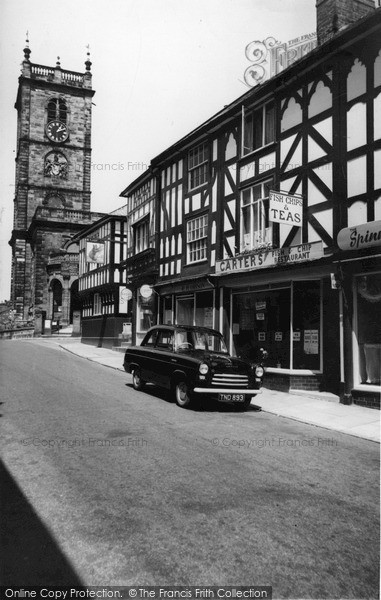 Photo of Whitchurch, High Street And The Church c.1955