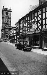 Whitchurch, High Street And The Church c.1955