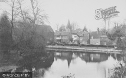 Whitchurch, Mill And Church 1910, Whitchurch-on-Thames