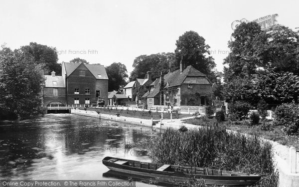 Photo of Whitchurch, Mill And Cottages 1899