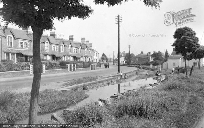 Photo of Whitchurch, The Brook And Main Road c.1950