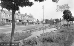 The Brook And Main Road c.1950, Whitchurch