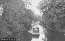 Whitchurch, The Lock From The Bridge c.1955, Whitchurch-on-Thames