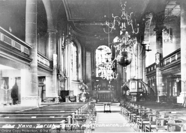 Photo of Whitchurch, The Nave, Parish Church c.1950