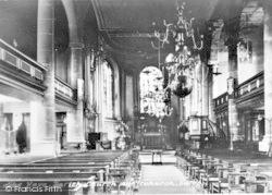 Whitchurch, The Nave, Parish Church c.1950
