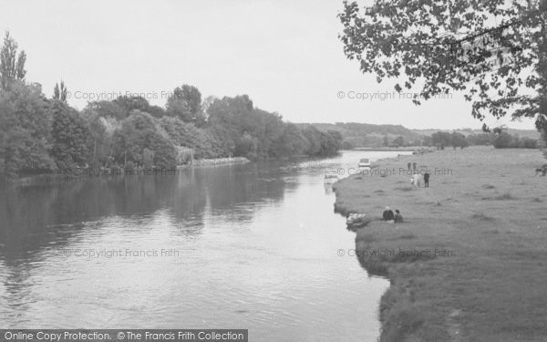 Photo of Whitchurch, The River From The Bridge c.1955