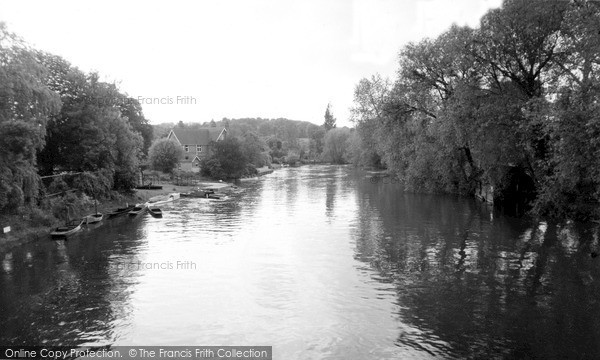 Photo of Whitchurch, The River From The Bridge c.1960